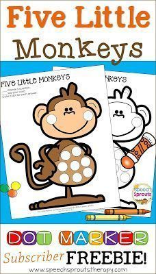 Best-Ever Books for Preschool Speech Therapy: Five Little Monkeys Jumping on the Bed