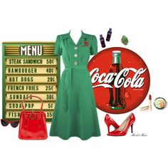 """50s Diner"" by merlothues on Polyvore"