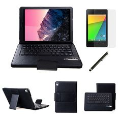 Google Nexus 9 Tablet Removable Bluetooth Keyboard Leather Case with Screen Protector   Stylus - $49.00 #onselz