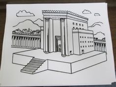 Rebuilding the Temple (King Josiah) this can be cut into a puzzle Bible Activities For Kids, Sunday School Activities, Preschool Bible, Bible Study For Kids, Bible Lessons For Kids, Sunday School Crafts, Preschool Crafts, Kids Bible, Primary Lessons