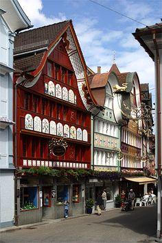 Historische Häuser in Appenzell I was here!!!