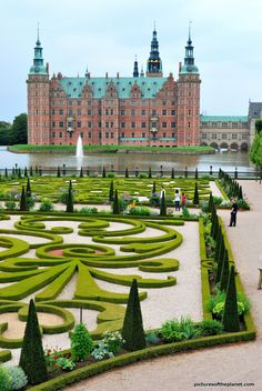 Frederiksborg Castle and Gardens Hillerod, Denmark #places #travel #Europe
