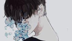 Beautiful anime boy art