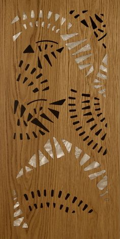 Pattern Floor inlays with wood and resin