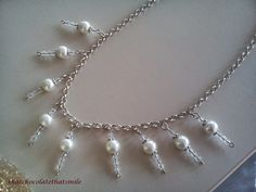 Pasta Mevsimi: Yaşasın İnci Günü!!!! İncili Kolyeler!!! ~ Kar Kolyesi ~ ( Pearl Necklace / It's Pearls Day! )
