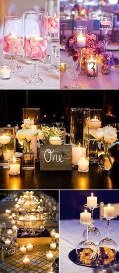 creative diy wedding centerpieces with candles