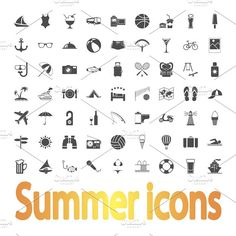 Summer Icons. by Oleksii on @creativemarket