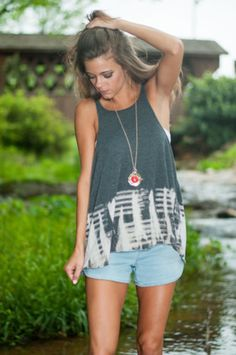 Fence And Repeat Tank, Gray