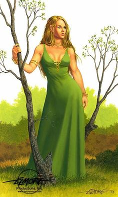 f Half Elf Druid Robes Farmland river deciduous forest hills Lauralanthalasa Kanan art by Larry Elmore Fantasy Warrior, Fantasy Rpg, Fantasy Books, Fantasy Portraits, Character Portraits, Character Sketches, Character Art, Dragonlance Chronicles, Elf Druid