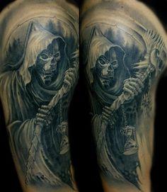 Luca Natalini grim reaper death tattoo