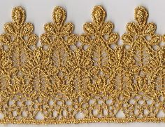 Three Inch Wide Metallic Gold Venise Lace Available now: 20 yards Price per yard: $8.00 www.twinrosesdesigns.com