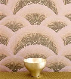 Art Deco wallpaper shell design   More on the myLusciousLife blog: www.mylusciouslife.com