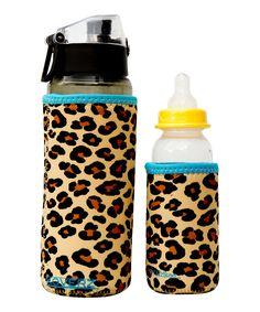 Look at this #zulilyfind! Kidzikoo Leopard Bottle/Sippy Cup Insulator Set by Kidzikoo #zulilyfinds