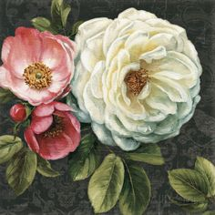 Floral Damask II Lámina