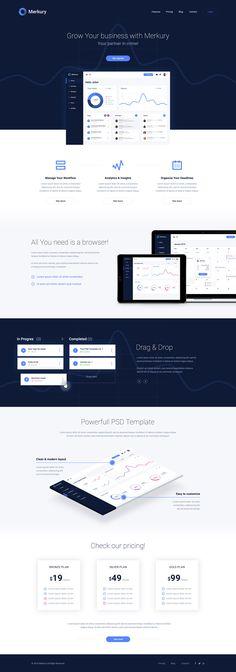 On termine cette semaine avec de belles ressources qui pourront vous servir et vous faire découvrir des interfaces modernes et originales. Nous avons sélectionné pour vous une série de 14 templates en PSD le tout à t&eac