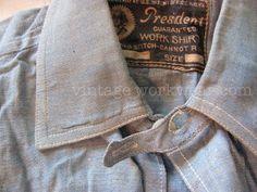 vintage workwear: 1910s Work Shirt