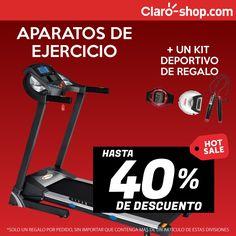 Hasta 40% de descuento en aparatos de ejercicio y un kit deportivo de regalo en tu compra.