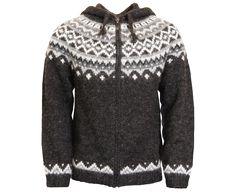 ae5db0e1e6 Skjöldur Icelandic wool sweater zip and hood