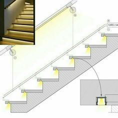 LED cove lighting application options for referenceRisultati immagini per cove lighting detailDiscover thousands of images about Ross MillaneyLighting working drawing for corridors on to floors.How to Install Elegant Cove Lighting - Salvabrani - Salvabran Stairway Lighting, Cove Lighting, Strip Lighting, Indirect Lighting, Lights On Stairs, Staircase Lighting Ideas, Interior Stairs, Home Interior Design, Classic Interior