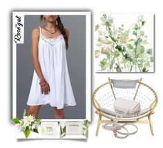 """Rosegal.Lace Splicing Slip Dress"" by natalyapril1976 ❤ liked on Polyvore featuring Courtside Market, Forever 21 and blow"