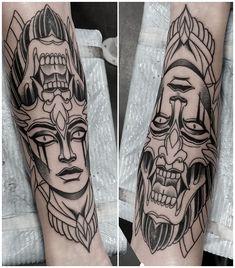 demon girl tattoo #demon #demontattoo #demongirltattoo #demonwoman #tattoo #eviltattoo