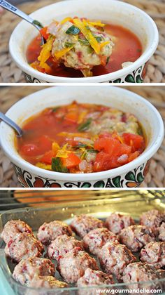 This beetball soup will remind you of the original meatball soup you used to eat! It has the same taste and texture, minus the bad parts of consuming animal products. #Vegan and healthy! | gourmandelle.com
