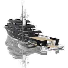 Van Geest Design innovation by design thinking outside of the box creating a design process by intergrating technology and engineering Luxury Houseboats, Luxury Yachts, Explorer Yacht, Camper Boat, Houseboat Living, Yacht Broker, Yacht Interior, Cool Boats, Boat Stuff