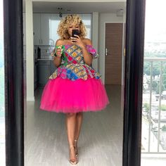 """Peplum Ankara and Tulle - Clothing – Tagged """"tulleskirtset"""" – Page 4 – Oyemwen African Dresses For Kids, African Inspired Fashion, Latest African Fashion Dresses, African Dresses For Women, African Print Fashion, African Attire, Ankara Mode, Ankara Short Gown Styles, Short Gowns"""