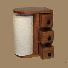 AMISH HANDCRAFTED WOODEN PAPER TOWEL HOLDER STATION with 3 drawers, Solid Wood, Finished in Beautiful Honey Oak, DESIGNED in a UNIQUE STYLE, Stained & Varnished. Hand Made By - The Amish Guys The Amish Guys http://www.amazon.com/dp/B011SMJIMO/ref=cm_sw_r_pi_dp_UIlqwb131RGEP
