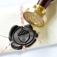 Acorn wax seal stamp kit