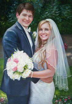WeddingPortraits | WeddingPaintings | Bridal Portraits... #wedding #weddingportrait #paint #painting #paintyourlife