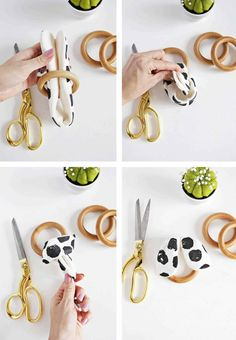 baby diy Wooden Ring Crinkle Teether DIY - A Beautiful Mess Baby Sewing Projects, Sewing Crafts, Handgemachtes Baby, Baby Bibs, Diy Bebe, Diy Rings, Wooden Rings, Baby Crafts, Diy Toys