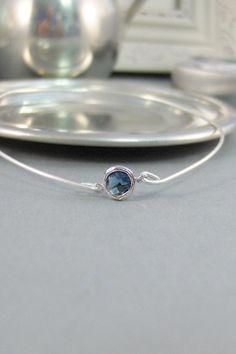 Sapphire Bangle,Bracelet,Sapphire Bracelet,Sapphire Jewelry,Silver Bracelet,Sapphire,Blue,Navy Blue,Sterling Silver Bracelet,Cuff. SeaMaiden...