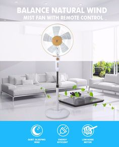 Home Appliances White 16 Pedestal Floor Fan With Low Voice