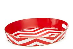 $50 Metal Tray, Chevron Red on OneKingsLane.com (kitchen counter catchall)