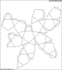 desarrollo plano de unicosidodecaedro