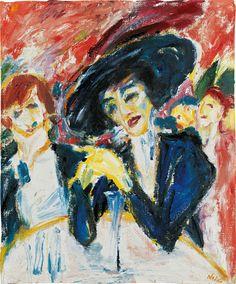 Emil Nolde(German, 1867 - 1956) At the wine table (Am Weintisch), 1911 Oil on Canvas Belvedere, Orangerie, Vienne, Austria