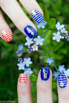 sea sailor nail art httpwwwblingfingernet