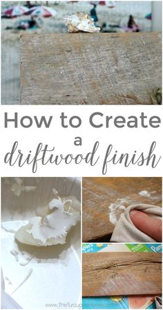 This DIY Driftwood Finish is so easy to create with just a couple of items! Full tutorial ...