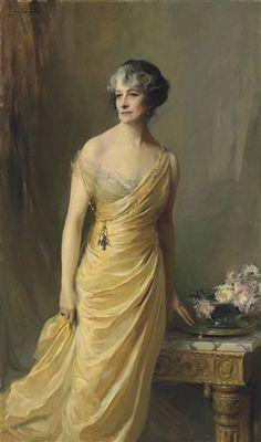 """Lady Ludlow, née Alice Sedgwick Mankiewicz,"" [previously Lady Wernher)] 1924 -- by Philip Alexius de László (Hungarian, 1869–1937)"