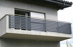 It may be a good idea to match house railing with fence - All About Balcony Glass Balcony Railing, Balcony Railing Design, Staircase Design, Balcony Grill Design, Window Grill Design, Door Gate Design, House Gate Design, House Siding, Facade House