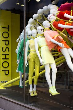 NEON architects: riba colour mannequin wheel installation
