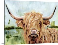 these 38 DIY Nursery Decor Girl that too being in your budget. The furniture and decor for the girl themes are available on the stores but they have really inflated prices. Canvas Artwork, Canvas Art Prints, Canvas Frame, Canvas Wall Art, Wall Art Prints, Big Canvas, Framed Prints, Highland Cow Canvas, Highland Cow Print