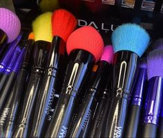 Candy color makeup brushes by Evelyn Lozada