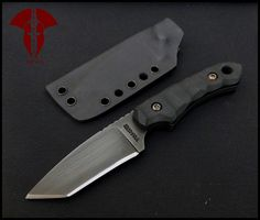 Krypteia Knives DEIMOS normal grind  Steel: O1 Thickness: 5mm Total length: 18 cm Blade length: 7.5 cm Handle: G10 Finish type: gun blue