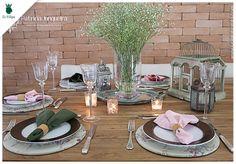 #dica #decor #mesa por Patrícia Junqueira #sousplat #pratos #talheres #dfilipa