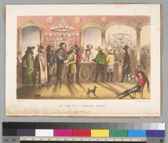 The Bar of a Gambling Saloon, 1800s