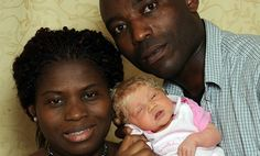 baby Nmachi is a blond, blue-eyed white baby born to two black Nigerian immigrant parents at a London hospital