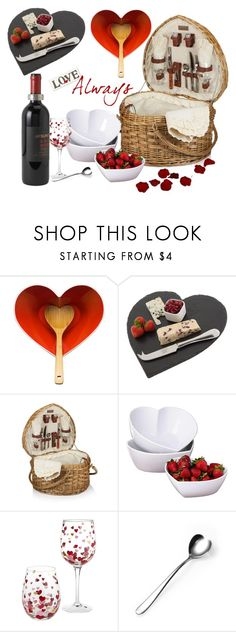 """""""Valentine Picnic"""" by mrs-rc ❤ liked on Polyvore featuring Sagaform, Just Slate Company, Picnic Time, Match, women's clothing, women, female, woman, misses and juniors"""