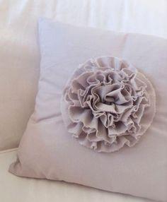 Make a ruffle flower pillow tutorial.
